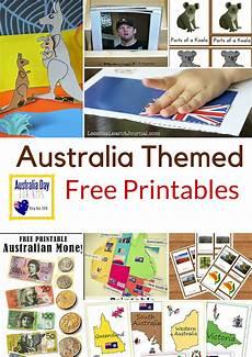 montessori nature australia themed free printables unit australia geography for kids