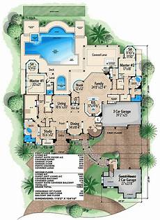 house plans with dual master suites plan 66340we luxury mediterranean home plan with two