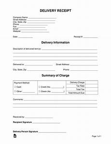 receipt document template free delivery receipt template word pdf eforms