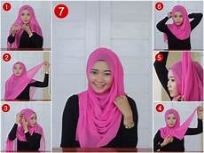 Tutorial Segi Empat Simple Casual Model Jilbab