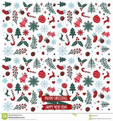 merry christmas happy new year pattern stock vector illustration of card background 49834481