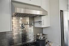 stainless steel brick tile backsplash design ideas