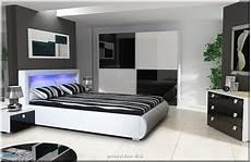 Schlafzimmer Weiß Komplett - schlafzimmer komplett hochglanz weiss schwarz schrank