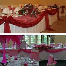 5m 1 35m sheer organza swag diy fabric wedding top table