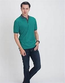 jual best seller baju kaos kerah polo shirt pria polos hijau di lapak aliya aliya520