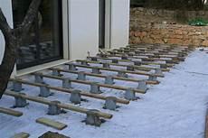 terrasse bois sur plot beton blanche bricole construire sa terrasse en lames de bois