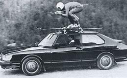 Image result for +skiier on car roof