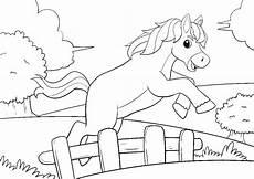 pferde ausmalbilder springen
