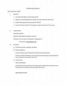 lesson plan in english 7 9 10 13