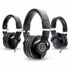 audio technica ath m40x headphones with 2 ath m30x headphones music123