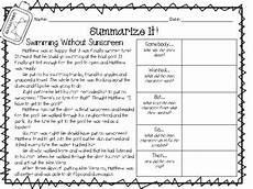 swbst summarizing passage by sleepless in second grade tpt