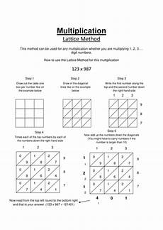 lattice method worksheet by carolinevhart teaching resources