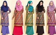 foto fashion baju batik songket sarawak trend terbaru melayu