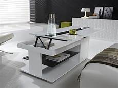table basse relevable pas cher table basse blanc laqu 233 pas cher id 233 es de d 233 coration