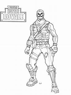 n coloring page fortnite skull trooper