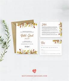 fall wedding invitation template autumn wedding invite printable fall wedding invite editable
