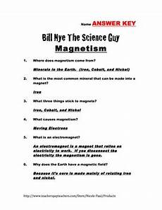 bill nye questions magnetism 17 questions with answer key by paul