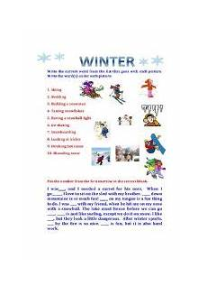 winter cloze activities worksheets 19955 winter updated to include a cloze activity esl worksheet by marla d