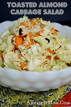 toasted almond cabbage salad recipe