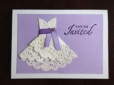 diy doily wedding invitations for bridal shower