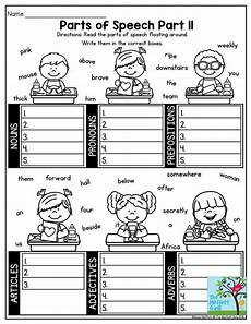 worksheets speech 19060 parts of speech engaging activity to help third grade students categorize the parts of parts