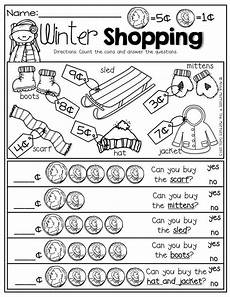money shopping list worksheets 2221 winter shopping with nickels and pennies prefect for adding up to 10 and comparing numbers