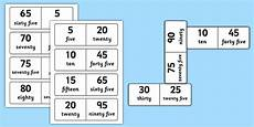 number bonds to 100 dominoes multiples of 5 maths numeracy