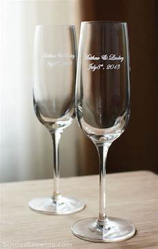 Custom Engraved Glassware Chagne Wine