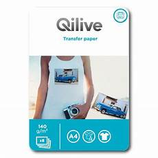 transfert shirt imprimante papier transfert t shirt 140 gr qilive pas cher 224 prix auchan