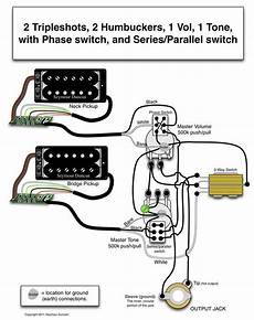 seymour duncan wiring diagram 2 triple shots 2 humbuckers 1 vol with phase switch 1 tone