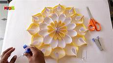 Home Decor Ideas Diy With Paper by How To Make Wall Decoration With Paper Easy Diy Home
