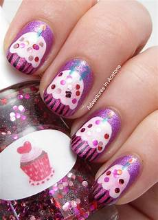 happy birthday caitlin cupcake nail art adventures in