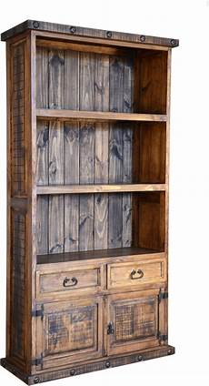 Rustic Wood Bookshelves