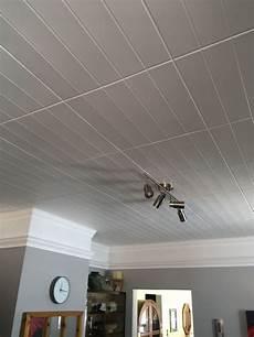 Bead Board Glue Up Styrofoam Ceiling Tile 20 In X 20 In