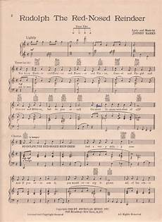 rudolph the red nosed reindeer sheet music printable rudolph christmas sheet music house of hawthornes