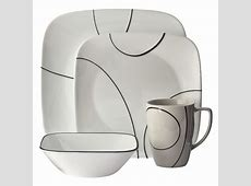 Corelle® Square 16pc Dinnerware Set Simple Lines : Target
