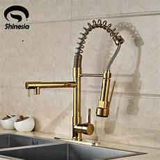 kitchen tap faucet modern gold kitchen faucet dual spouts sink mixer tap with 10 cover plate and cold