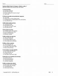 worksheet reflexive verbs 19038 reflexive verbs 1 worksheet for 8th 9th grade lesson planet