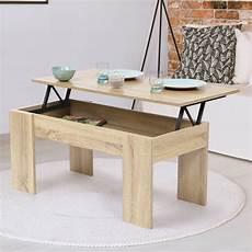 table basse avec plateau table basse avec plateau relevable bois imitation h 234 tre ebay