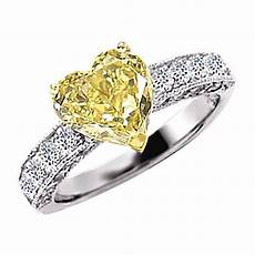 yellow canary diamond wedding rings 2 76 ct yellow canary diamond wedding fancy ring heart