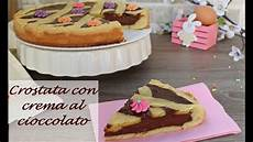 crema al cioccolato per crostata senza latte crostata con crema al cioccolato ricetta senza burro chocolate cream tart youtube