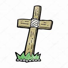 dessin anim 233 croix tombe en bois image vectorielle