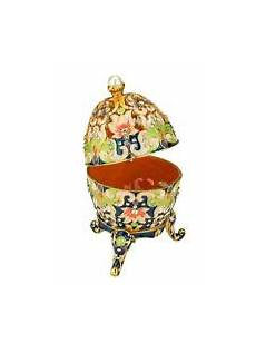 jeweled egg ring jewelry box light blue enamel crystal metal egg trinket box ebay