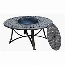 table jardin fer forgé table de jardin basse ronde moorea aspect fer forg 233 noir