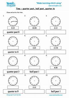 free time worksheets quarter to and quarter past 3161 time quarter past half past quarter to tmk education