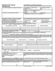 affirmative fair housing marketing plan 22 printable marketing plan template forms fillable