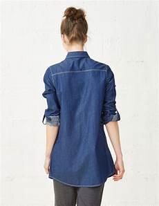 chemise longue en jean brut femme jennyfer