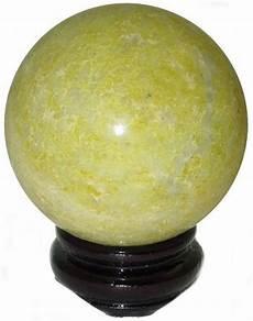 yellow serventine 14 95 chinese serpentine sphere free us ship giftwrap w 50 order gem mineral spheres