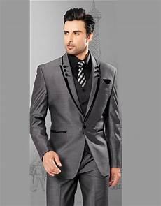 Custom Made Gris Homme Costume 1 Boutons Costume De