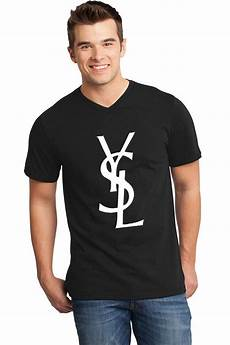 items similar to ysl t shirt black v neck with white
